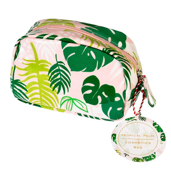 tropical palm make up bag