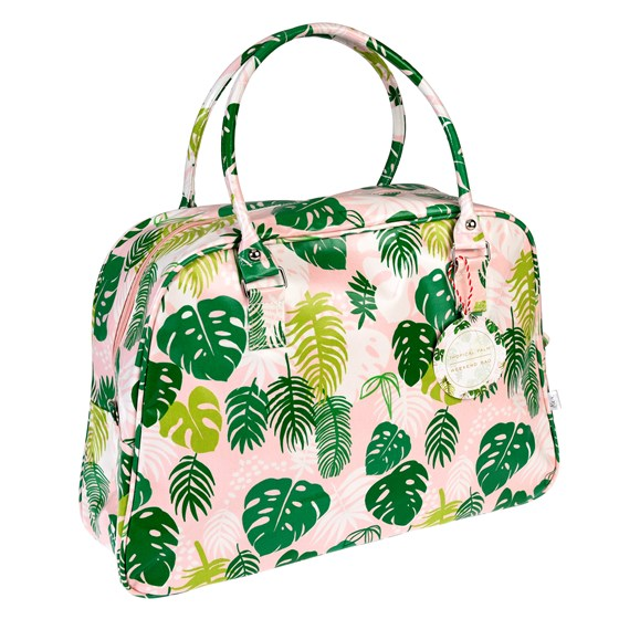 tropical palm weekend bag