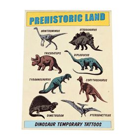 prehistoric land temporary tattoos (2 sheets)