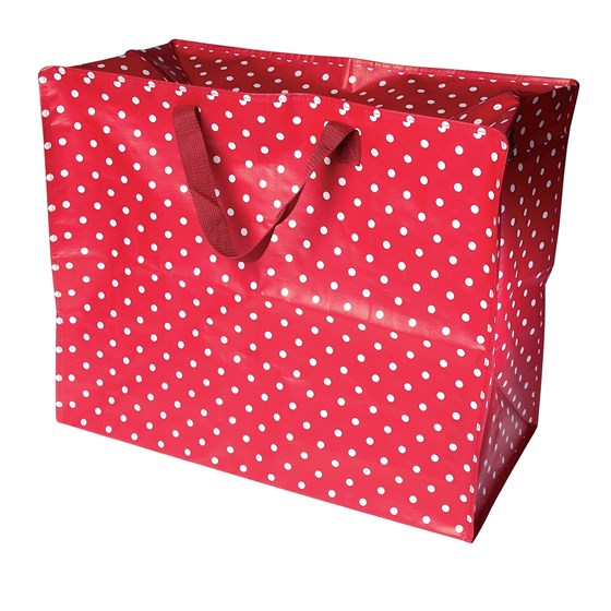 red retrospot design jumbo storage bag