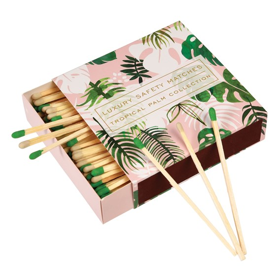 tropical palm square safety matches