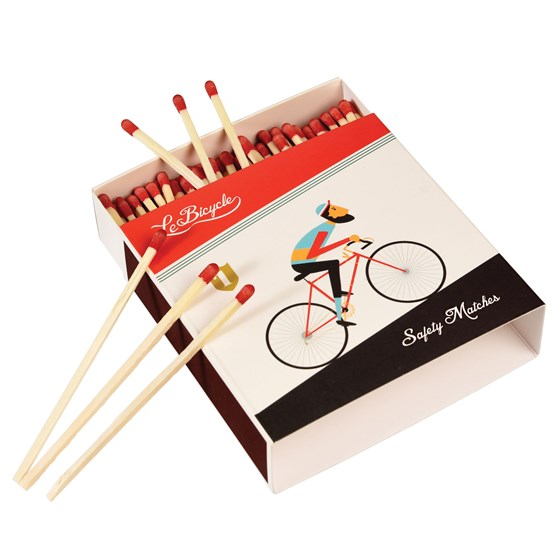 LE BICYCLE BOX OF LONG SAFETY MATCHES