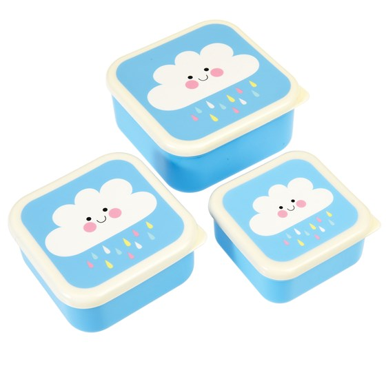happy cloud snack boxes (set of 3)