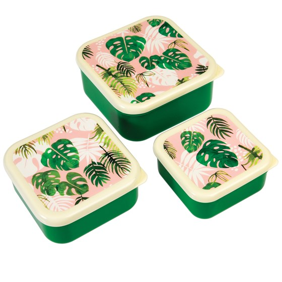 tropical palm snack boxes (set of 3)