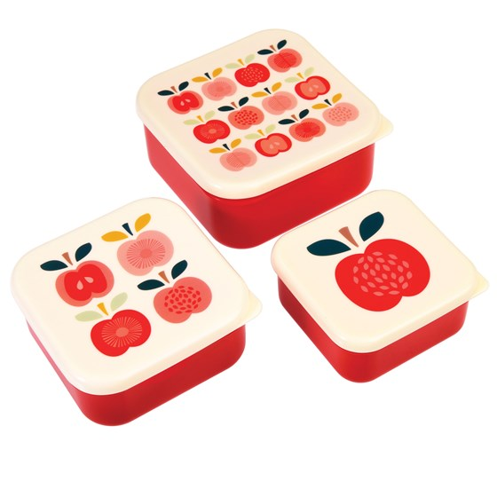 vintage apple snack boxes (set of 3)