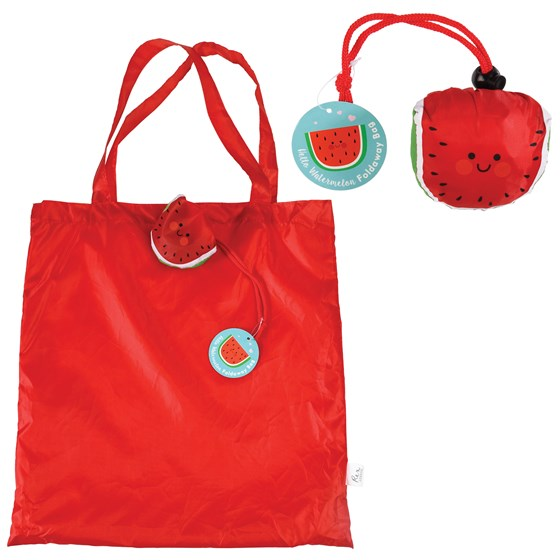 watermelon foldaway bag