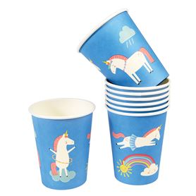 vasos de papel magical unicorn (set de 8)