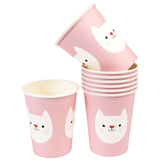 COOKIE THE CAT PAPER CUPS (SET OF 8)