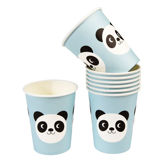 vasos de papel miko the panda (set de 8)
