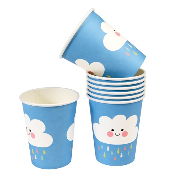 HAPPY CLOUD PAPER CUPS (SET OF 8)