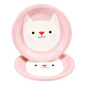 set mit 8 papptellern cookie the cat