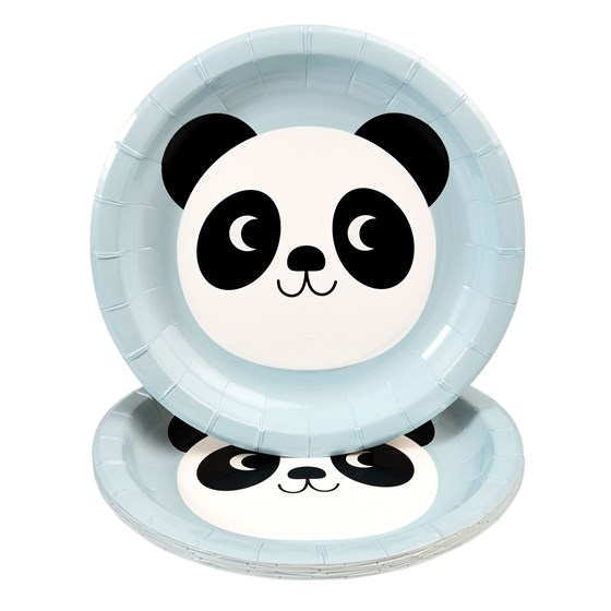 miko the panda paper plates (set of 8)