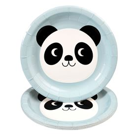 set mit 8 papptellern miko the panda