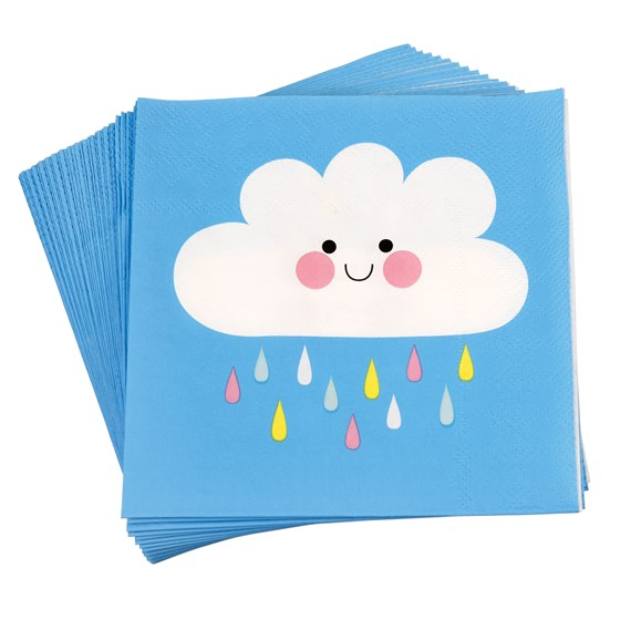 20 serviettes en papier happy cloud