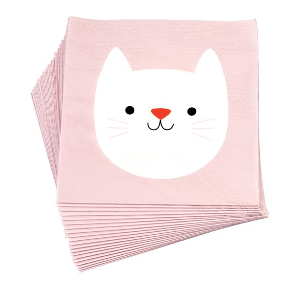 cookie the cat paper napkins (pack of 20)