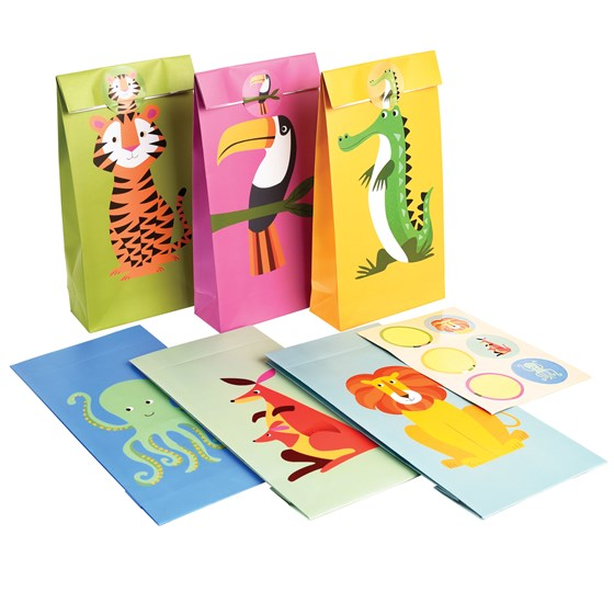 COLOURFUL CREATURES PARTY BAGS (SET OF 6)