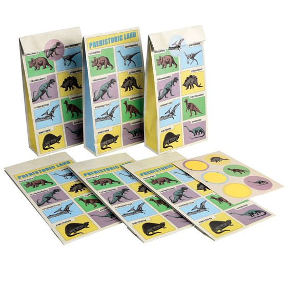 prehistoric land party bags (set of 6)