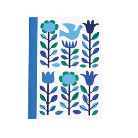 folk doves design a6 notebook