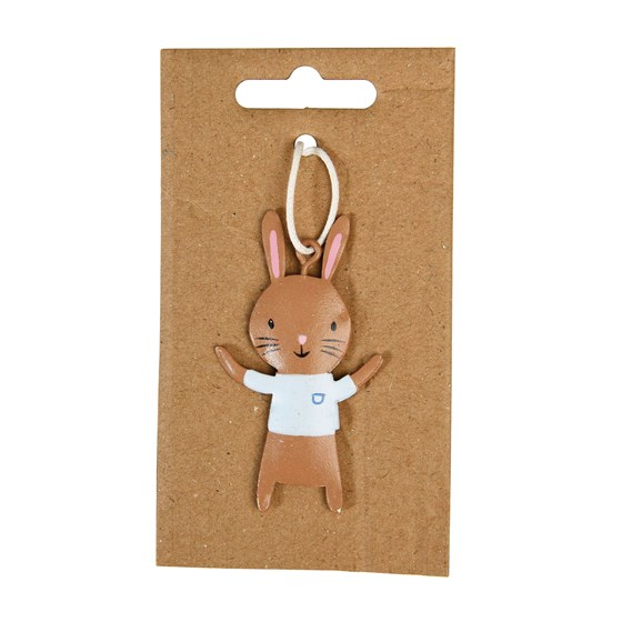BROWN EASTER BUNNY DECORATION