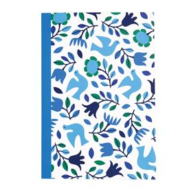 folk doves design a5 notebook