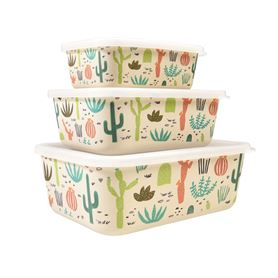 desert in bloom bamboo boxes (set of 3)