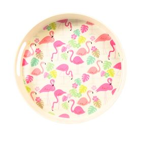 tablett aus bambusfaser flamingo bay