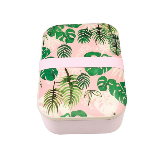 tropcial palm bamboo lunch box