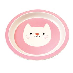 cookie the cat bamboo plate