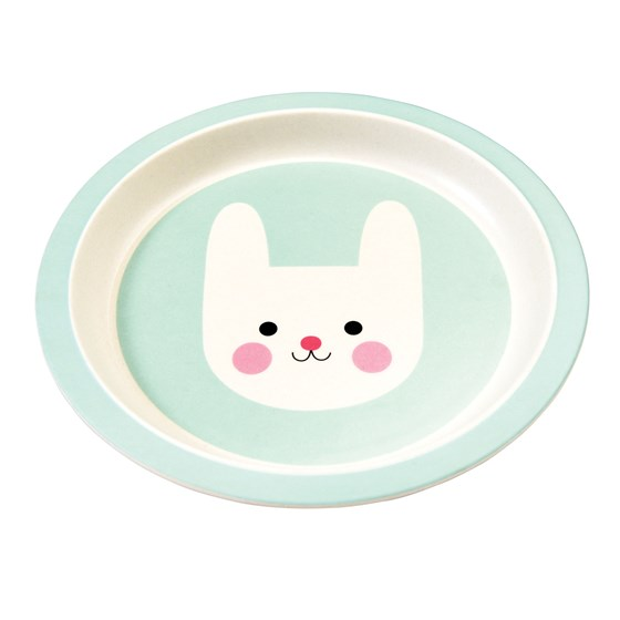 bonnie the bunny bamboo plate