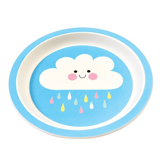 HAPPY CLOUD BAMBOO PLATE