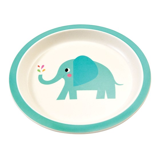 ELVIS THE ELEPHANT BAMBOO PLATE