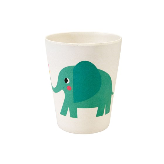 trinkbecher aus bambusfaser elvis the elephant