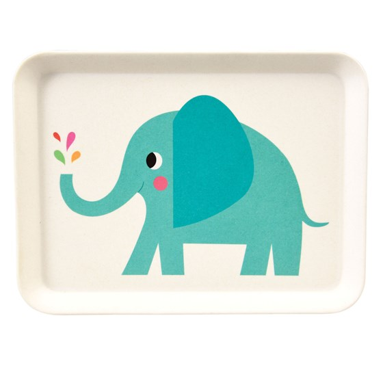 tablett aus bambusfaser elvis the elephant
