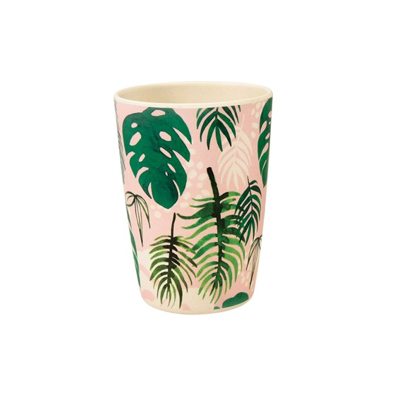tropical palm bamboo beaker