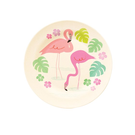 flamingo bay bamboo side plate