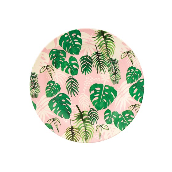 tropical palm bamboo side plate