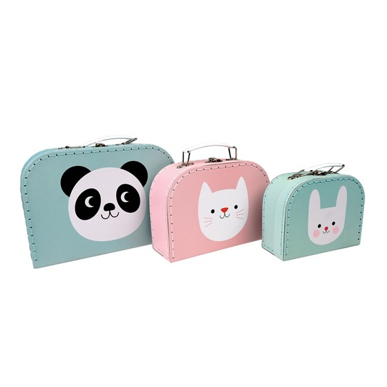 miko the panda and friends storage cases (set of 3)