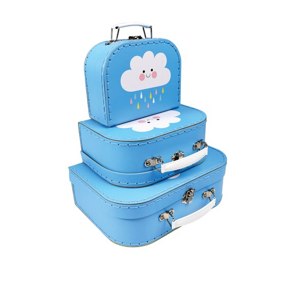 set de 3 valisettes happy cloud