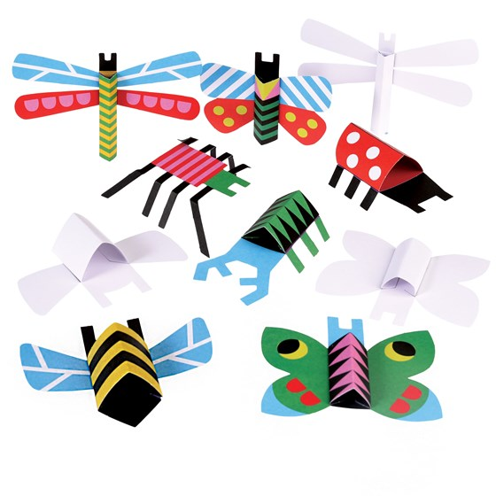 kit papiers origami insectes