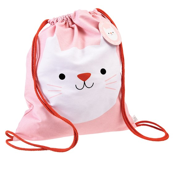 cookie the cat drawstring bag