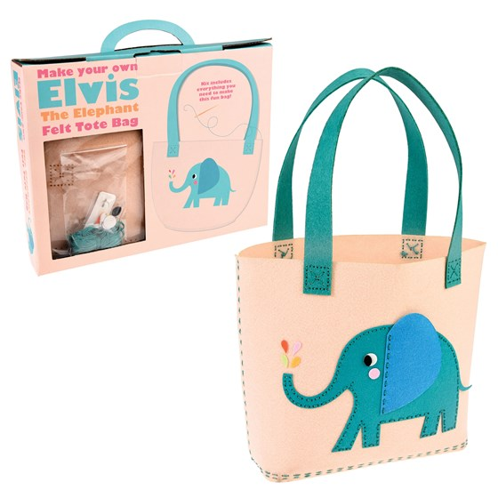sew your own elvis the elephant tote bag