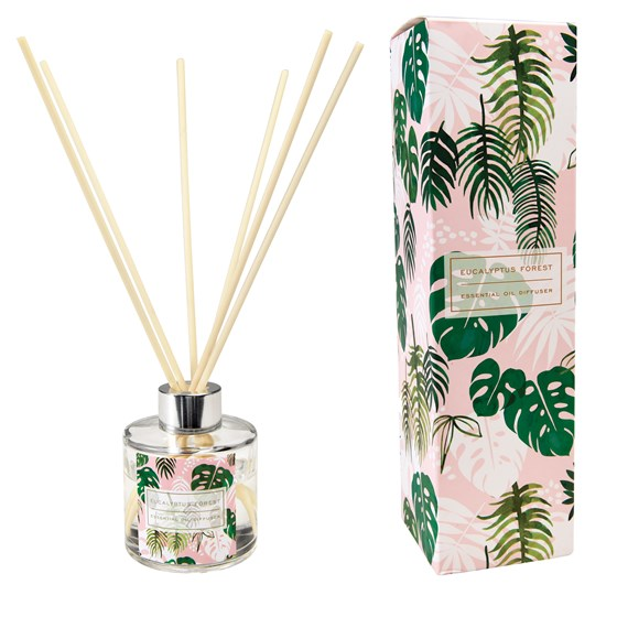 TROPICAL PALM REED DIFFUSER, EUCALYPTUS SCENT.
