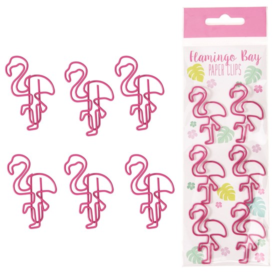 set de 6 trombones flamingo