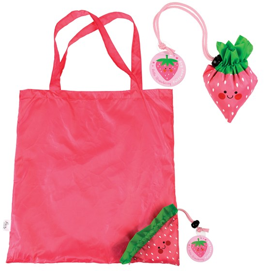 sac shopping pliable fraise