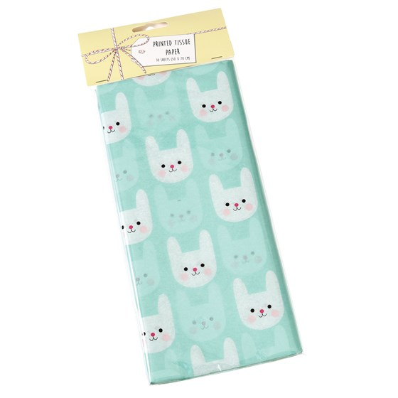 bunny tissue paper (10 sheets)