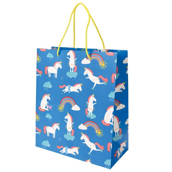 large magical unicorn gift bag
