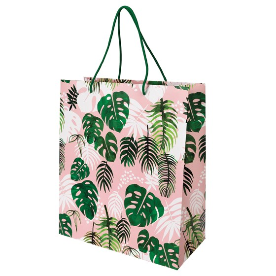 large tropical palm gift bag