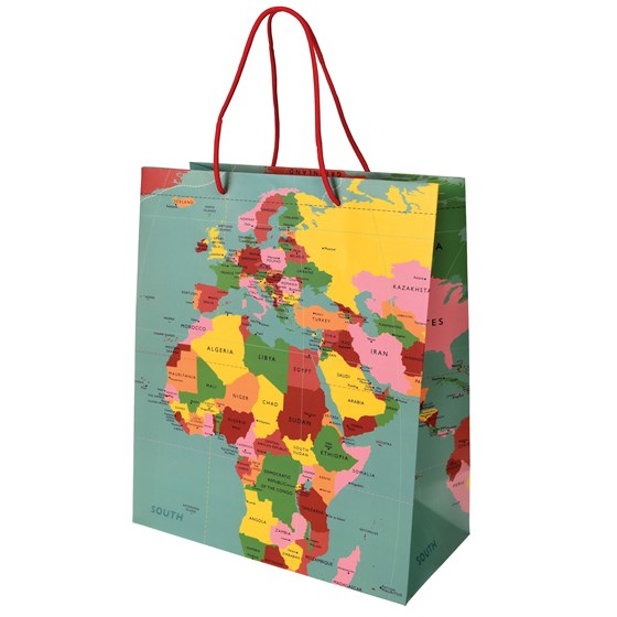 sac cadeau world map