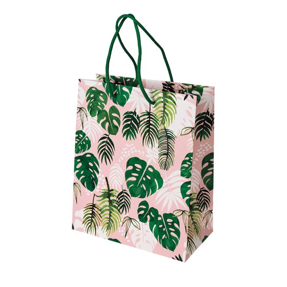 small tropical palm gift bag
