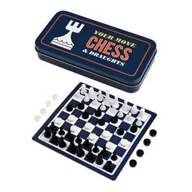 travel chess and draughts game